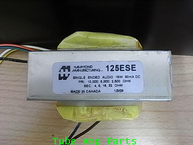 Hammond 125ESE - Output Transformer - Universal, Single Ended, 15 W, 80 mA