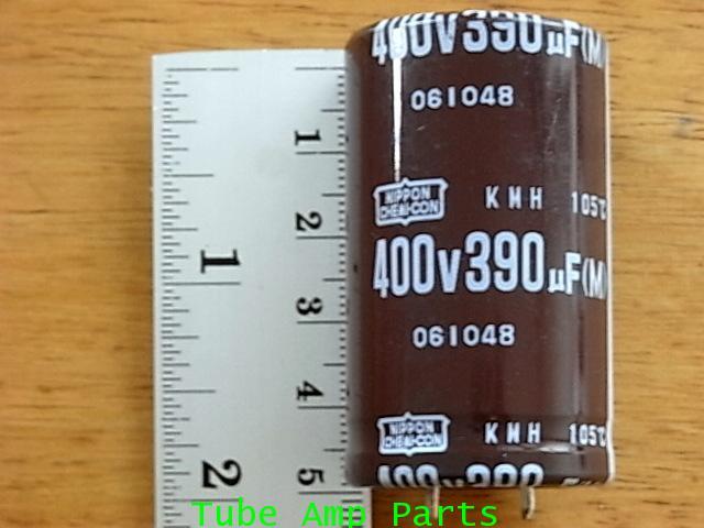 C Nippon Chemicon 390 uF 400V