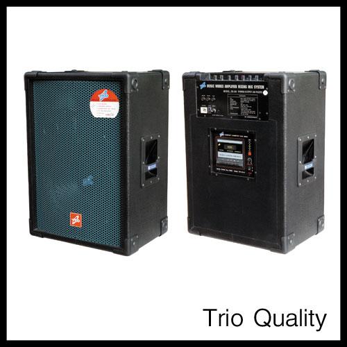 ตู้แอมป์ TRIO ขนาด 15 นิ้ว 180W มีเทป รุ่น TR-160/101D