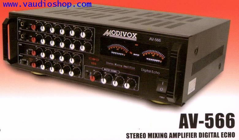 Power Mixer Karaoke MODIVOX AV-566