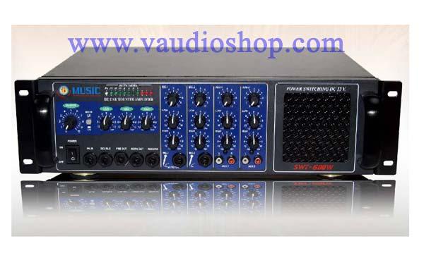 เครื่องขยายเสียง DC ติดรถยนต์ 600W MUSIC รุ่น SWT-600