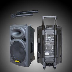 ตู้แอมป์ XXL Power 12นิ้ว รุ่น BIK USK-12V (USB/SD CARD/ไมค์ลอยVHF2ตัว/แบตแห้ง)