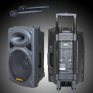 ตู้แอมป์ XXL Power 15นิ้ว รุ่น BIK USK-15V (USB/SD Card/ไมค์ลอยVHF2ตัว/แบตแห้ง)