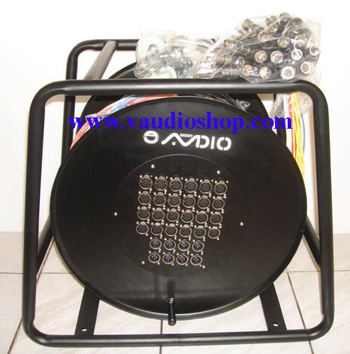สายมัลติคอร์ AJ audio รุ่น SB-24R8-60M แบบมีล้อ