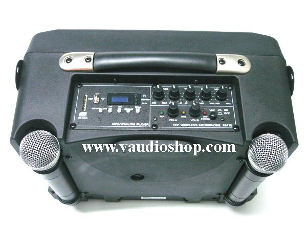 ตู้แอมป์ XXL Power รุ่น XXL PORT-8 III (ไมค์ลอยVHF2ตัว/แบตแห้ง/USB/FM)