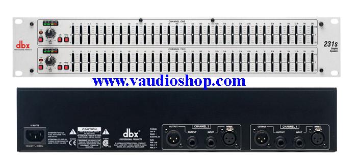 dbx 231S Dual Channel 31-Band EQ (ของแท้ มหาจักร) สีขาว