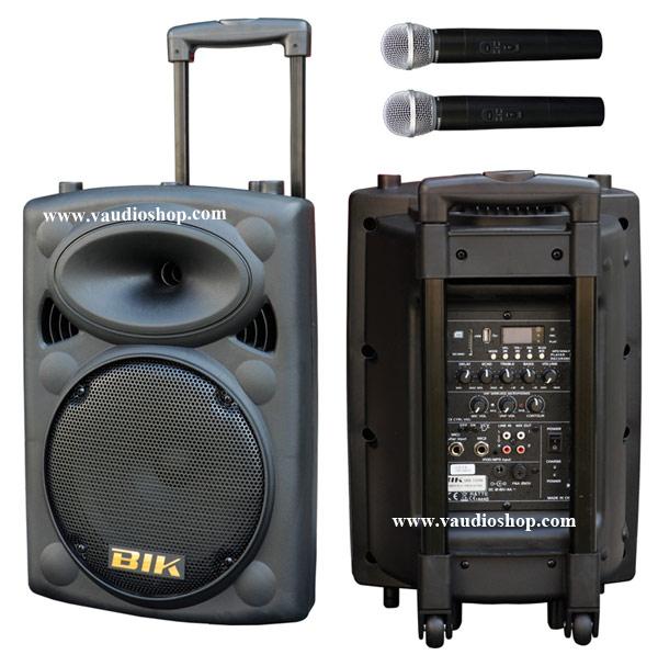 ตู้แอมป์ XXL Power BIK USK-10VN (อัดเสียง/ไมค์ลอยVHF2ตัว/แบตแห้ง/USB/FM)