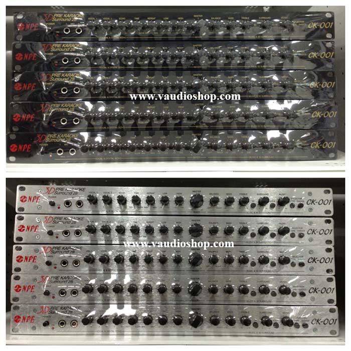 NPE KARAOKE PRE AMP CK-001 2B สีเงิน
