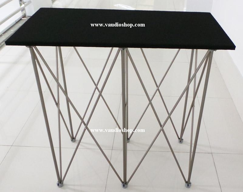 โต๊ะมิกซ์ 40x80x80 ท๊อปไม้บุพรมดำ