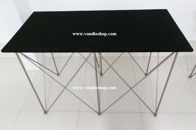 โต๊ะมิกซ์ 60x120x80 ท๊อปไม้บุพรมดำ