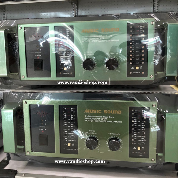 Stereo Power Amplifier Mosfet MUSIC PAM-600