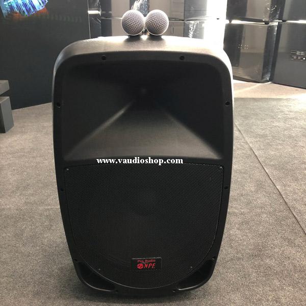 ตู้แอมป์ 15 นิ้ว NPE รุ่น QU-15BAT (ไมค์ลอย2ตัว/แบตแห้ง/USB/SD CARD)