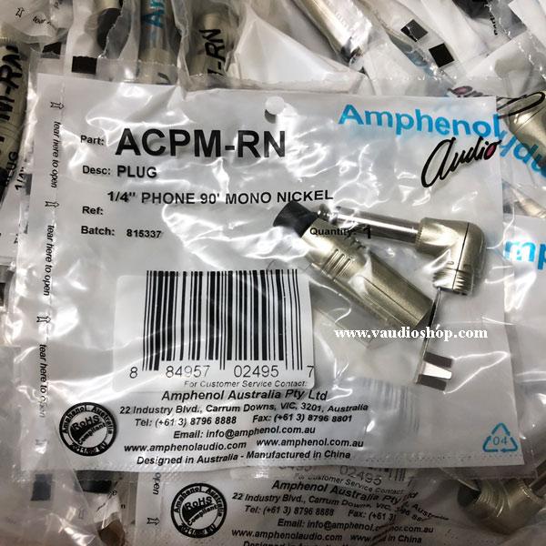 AMPHENOL ACPM-RN ปลั๊กไมค์ Mono รุ่นงอสีเงิน
