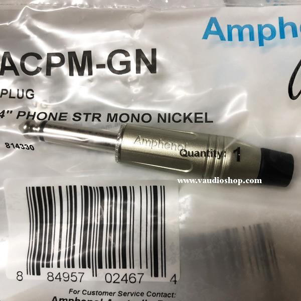 AMPHENOL ACPM-GN ปลั๊กไมค์ Mono รุ่นตัวตรง มี 7 สี