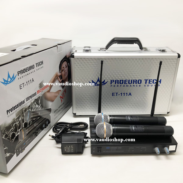 Wireless Microphone EUROTECH ET-111A  ถือคู่ UHF ด้ามโลหะ