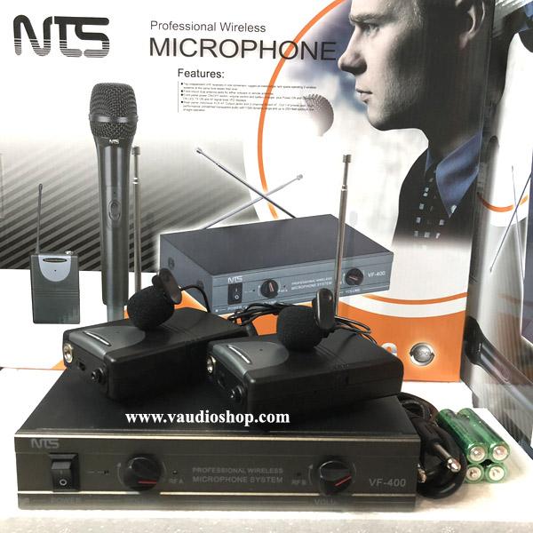 Wireless Microphone NTS VF-400 หนีบคู่ VHF