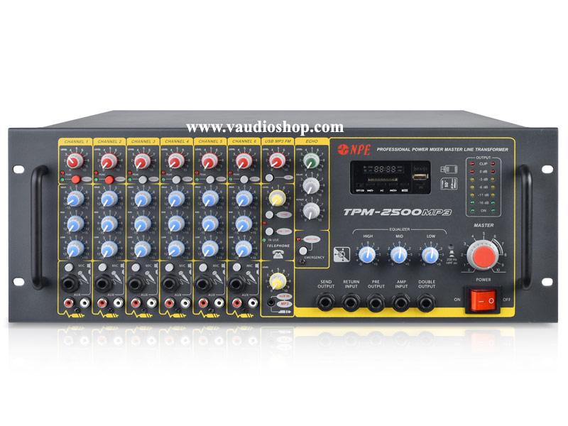 Power Mixer NPE TPM-2500MP3 (Bluetooth,USB/SD, MP3, ช่องโทรศัพท์)