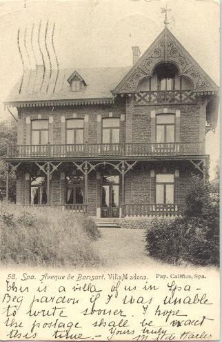 โปสการ์เก่า หายาก ส่งจากประเทศเบลเยี่ยม ไปแคนาดา ปี 1906