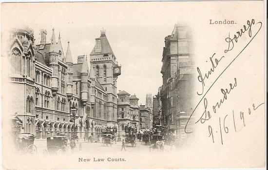 โปสการ์ดเก่าประเทศอังกฤษ ปี 1902 ส่งไปฝรั่งเศส