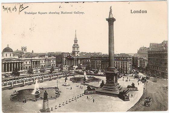 โปสการ์ดเก่าประเทศอังกฤษ ปี 1903 ส่งไปฝรั่งเศส