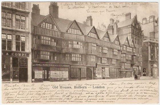 โปสการ์ดเก่าประเทศอังกฤษ ปี 1904 ส่งไปฝรั่งเศส