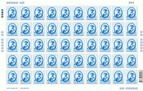 แสตมป์พระรูป ร.9 ชุดที่ 9 ดวงราคา 1 บาท พิมพ์ครั้งที่ 7 เต็มแผ่น