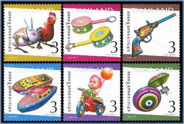 แสตมป์ไทยชุดที่ระลึกสัปดาห์สากลแห่งการเขียนจดหมาย 2553 ของเล่นสังกะสี ยังไม่ใช้