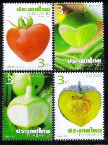 แสตมป์ไทยชุดพืชผักสวนครัว ปี 2554 ยังไม่ใช้ สวยน่าเก็บครับ