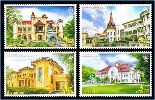 แสตมป์ไทยชุดที่ระลึกวันอนุรักษ์มรดกไทย 2553 วังเก่า