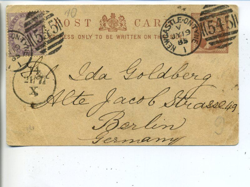 019 โปสการ์ดเก่าประเทศอังกฤษ ปี ค.ศ. 1885 (พ.ศ.2428 สมัยต้น รัชกาลที่ 5)
