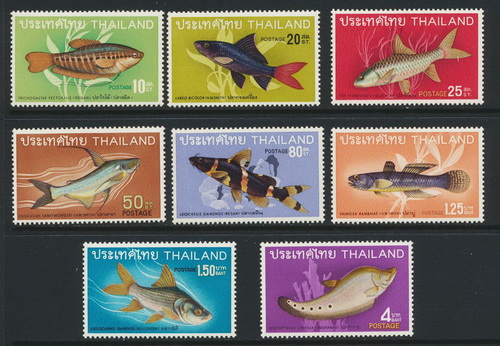 แสตมป์ชุดปลาไทยชุดที่ 2 ปี 2511 ยังไม่ใช้ สภาพเยี่ยม