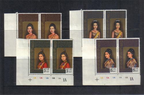 แสตมป์ไทยชุดเฉลิมพรชนมพรรษาครบ 3 รอบ สมเด็จพระนางเจ้าพระบรมราชินีนาถ ปี 2511 ยังไม่ใช้ ฺฺฺ