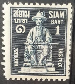 แสตมป์ชุด 150 ปี ราชวงศ์จักรี ปี 2475 ตัวติดดวงราคา 1 บาท ยังไม่ใช้ สภาพนอก หายากมาก