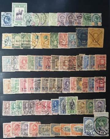 แสตมป์ไทย ร.5 ถึง ร.8 พ.ศ. 2426 ถึง 2548 แสตมป์คละ สภาพดี