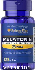 Puritan\'s Pride Melatonin 3mg.ยานอนหลับธรรมชาติ