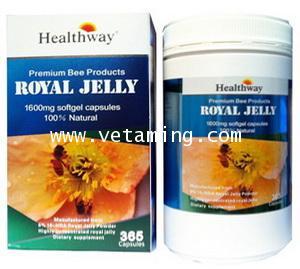 นมผึ้ง Healthway Royal Jelly 1600mg. ราคาถูก ส่ง 1,xxx ซื้อ1แถมของแถม1ชิ้น