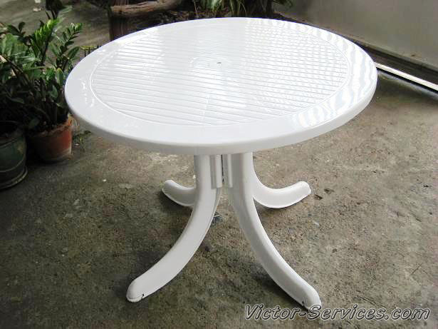 เช่าโต๊ะ-เก้าอี้ - ชุดโต๊ะ-เก้าอี้สนามสีขาว พร้อมร่มสนาม 7