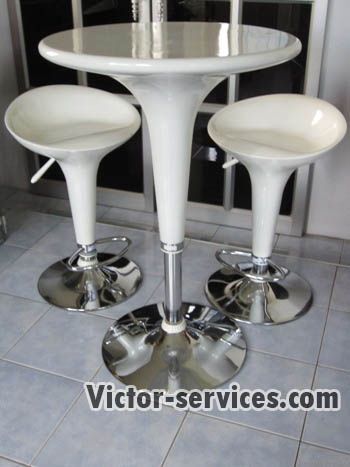 เช่าโต๊ะ - โต๊ะสตูไฟเบอร์+เก้าอี้สตูลไฟเบอร์