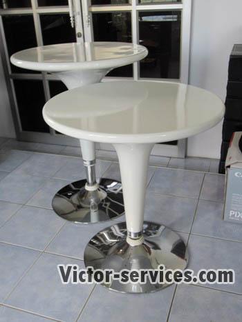 เช่าโต๊ะ - โต๊ะสตูไฟเบอร์+เก้าอี้สตูลไฟเบอร์ 4