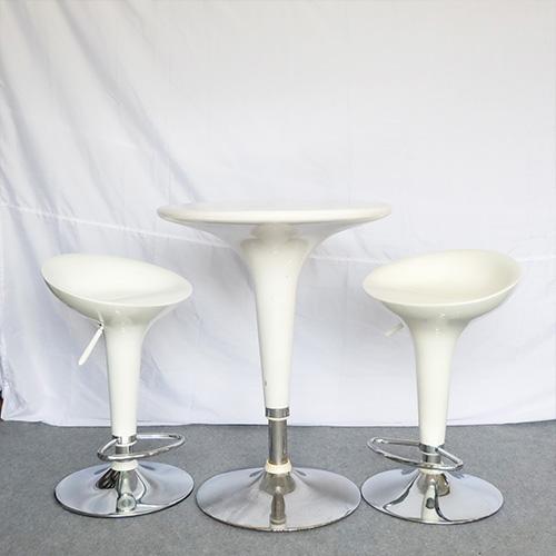 เช่าโต๊ะ - โต๊ะสตูไฟเบอร์+เก้าอี้สตูลไฟเบอร์ 2