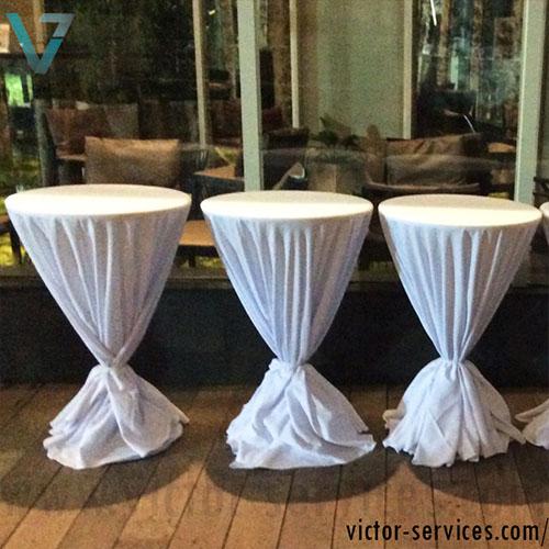 เช่าโต๊ะ - โต๊ะสตูลไฟเบอร์คลุมผ้า 4