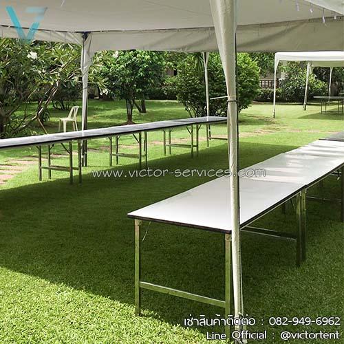 เช่าโต๊ะ - โต๊ะเหลี่ยมหน้าขาว(ไม่คลุมผ้า) 7