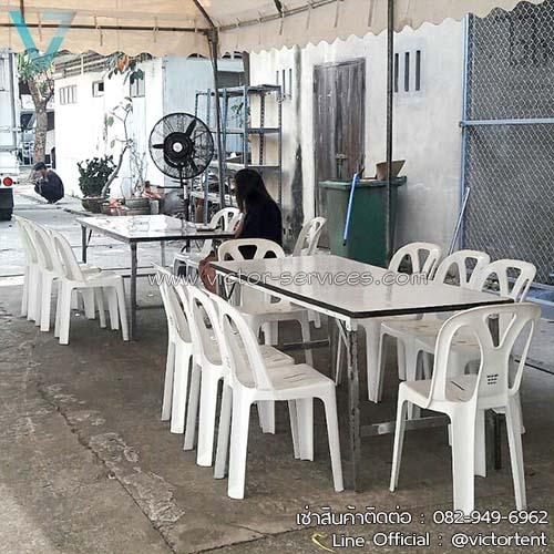 เช่าโต๊ะ - โต๊ะเหลี่ยมหน้าขาว(ไม่คลุมผ้า) 8