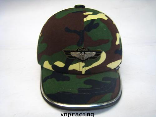 หมวกกันน็อคมีแำก็ป nexttex ลายทหารหาญ