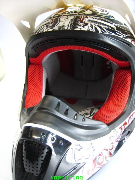 หมวกกันน๊อกวิบาก REAL Hopper-MX G10 ขาว-น้ำตาล (เลิกผลิต)