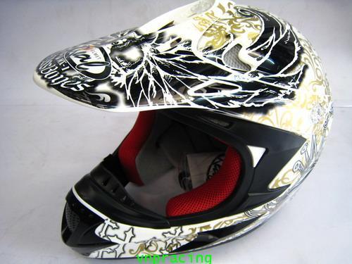 หมวกกันน๊อกวิบาก REAL Hopper-MX G10 ขาว-ทอง คลิ๊กด้านใน (เลิกผลิต)