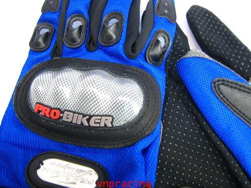 ถุงมือเคฟล่า นำเข้าอย่างดี Pro-Biker สีน้ำเงิน ส่งฟรีทั่วไทย คลิ๊กด้านใน