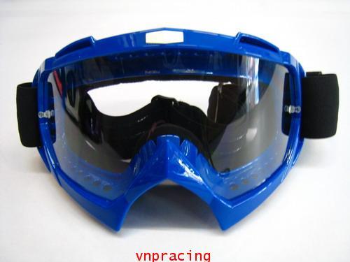 แว่นตาวิบาก RACING GOGGLE แบบ 2 สีน้ำเงิน