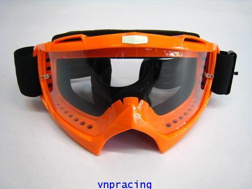 แว่นตาวิบาก RACING GOGGLE แบบ 2 สีส้ม