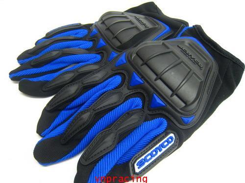 ถุงมือ SCOYCO รุ่น MC08 สีน้ำเงิน